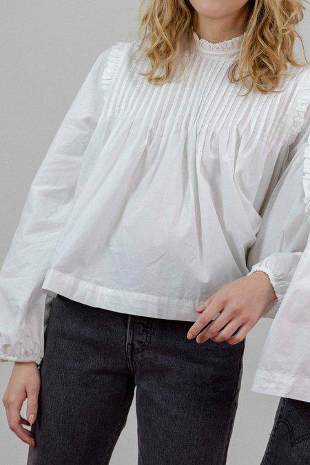 e9016ca2 ... Ganni Plain Cotton Poplin Blouse - White