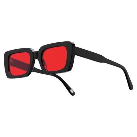 Chimi Eyewear Laser Solid Sunglasses - Black/Red