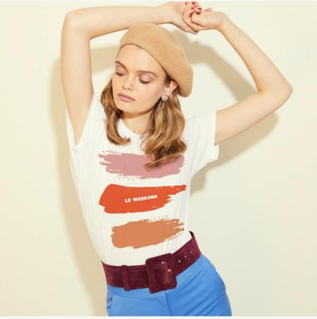 Monogram Le Weekend T-shirt - WHITE