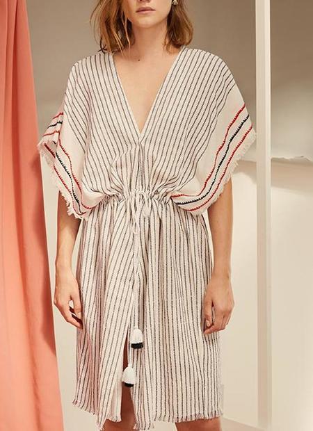 Charli Astrid Tunic/Cardigan - Navy Stripe