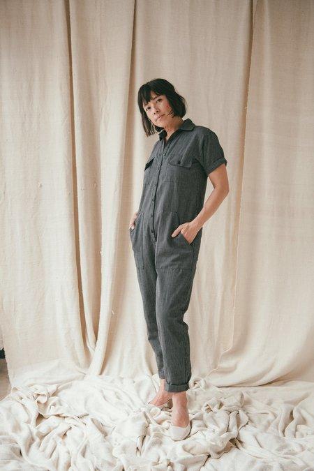 Ozma Painter's Jumpsuit - Petite Stripe