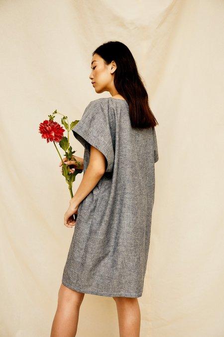 Devlyn Van Loon Darted Tunic Dress - Denim Blue
