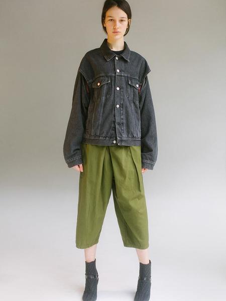 UNISEX Kapital Shimokita Wrap Pants - Green/Khaki