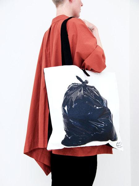 A'N'D Homage Tote - Gavin Turk Black Bin Bag Print