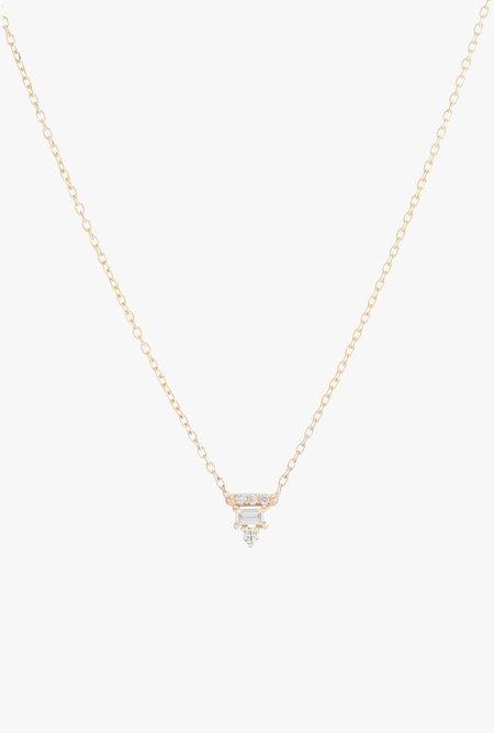 Jennie Kwon Designs Diamond Baguette Bar Necklace