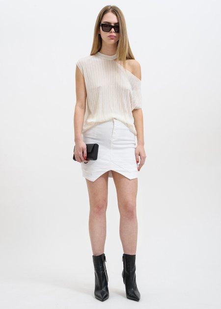 RtA Tempest V-Point Skirt - White