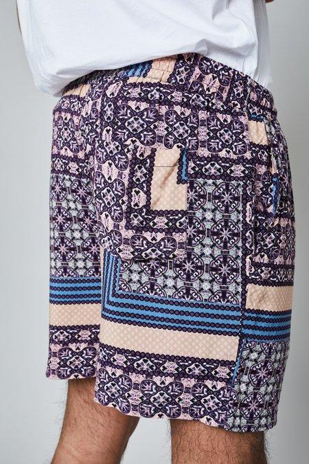 Native Youth THE KENDRICK SHORT - Purple Tile Print