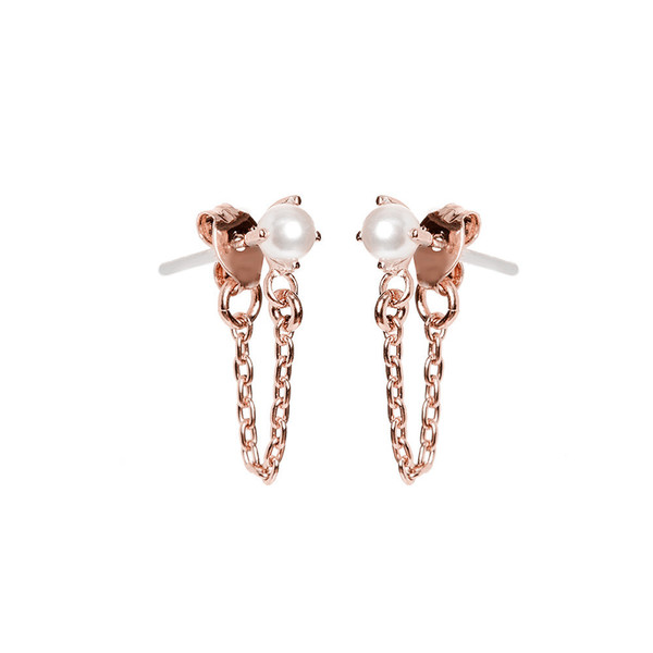 BING BANG JEWELRY / B.O. PERLE ET CHAINE - OR ROSE