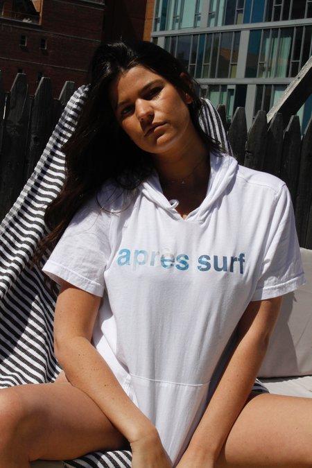 unisex MILLENNIAL NYC après surf hoodie - white