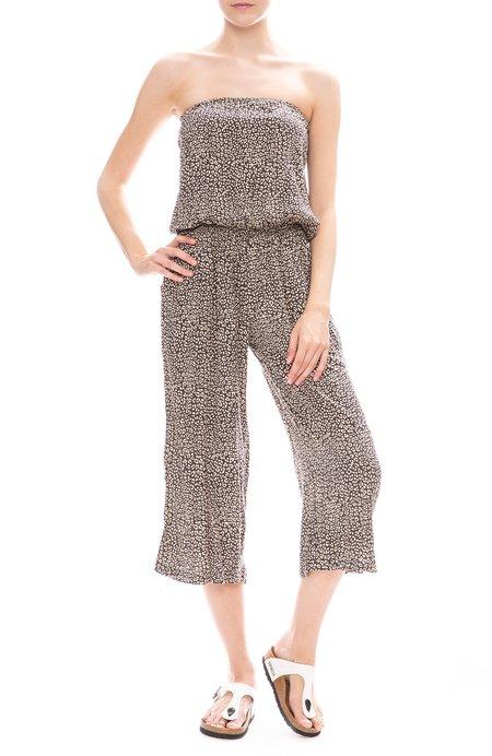 BEACHGOLD Strapless Jumpsuit - SLATE LEOPARD