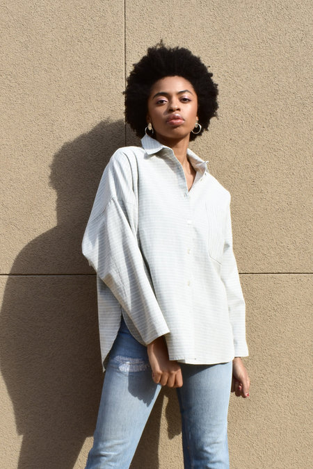 Study NY Shirt 1.1 - Light Grey Stripe