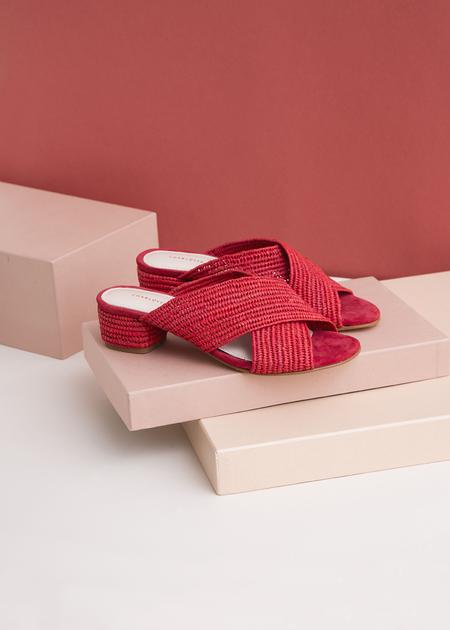 Charlotte Woivré Bertha Sandals - Red