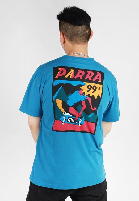 BY PARRA Indy Tuck Knee T-Shirt - slate blue