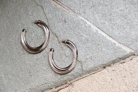 Machete Form Hoops - Lucite