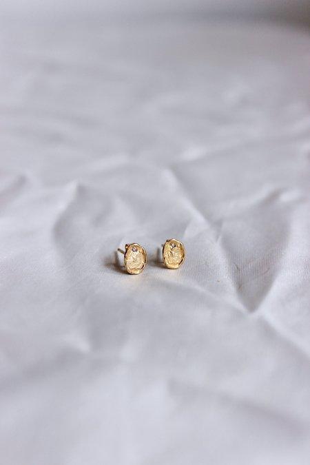 Victoria Cunningham Flake Diamond Studs - 14k Gold