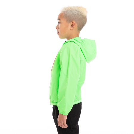 Kids K-Way Le Vrai 3.0 Claude Full Zip Jacket - Green Fluo