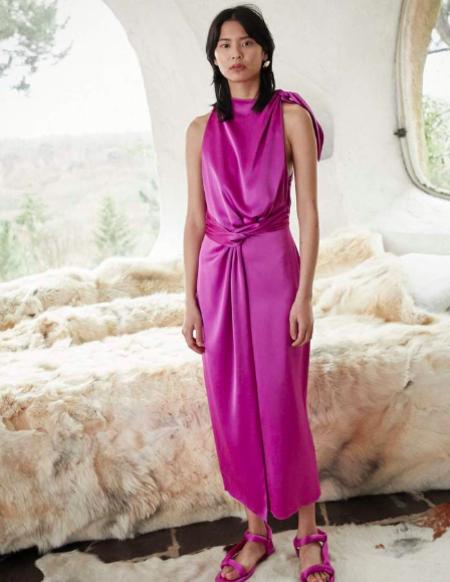 NANUSHKA Kalila Rosebud Slip Dress