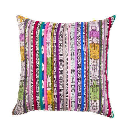 Archive New York Vintage Ikat Pillow - Rainbow