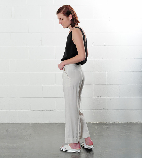 Raquel Allegra Cropped Flare Trousers