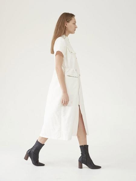 Hasto Gran String Detail Dress - Ivory