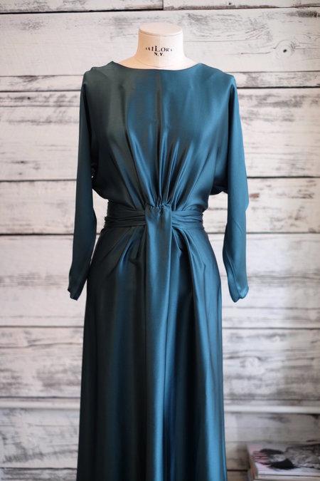 LUPE Gina V Dress - deep green