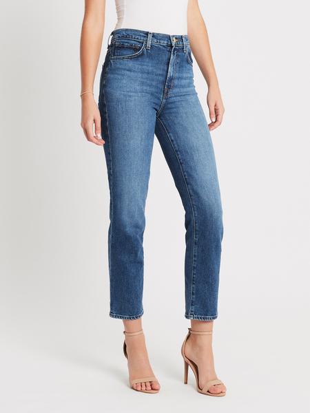 J Brand Jules High Rise Straight Jean - Metropole