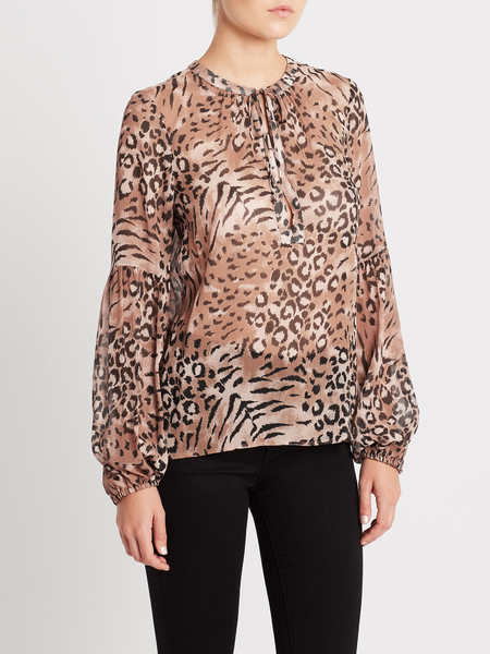 Paige Beretta Top - Light Hyde/Faded Animal