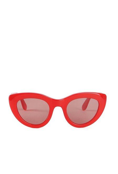 Ganni Mia Sunglasses - Fiery Red