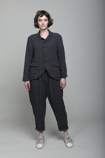 ICHI ANTIQUITES Linen Pants - Charcoal