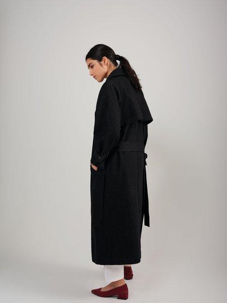 Odeyalo TENDRESSE denim coat - black