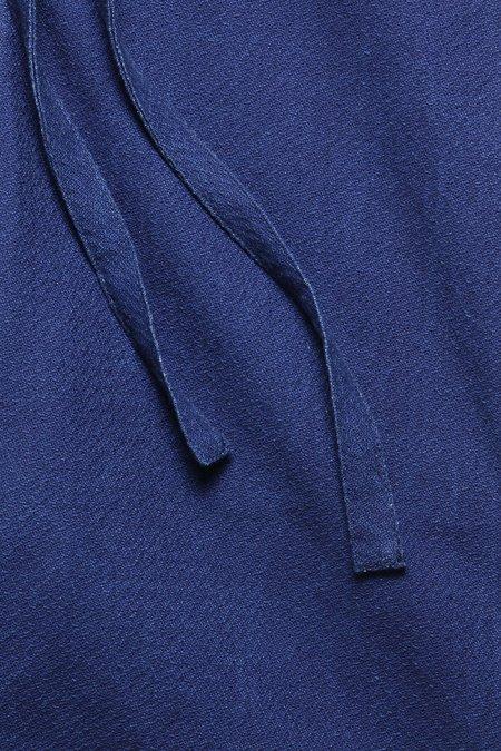 House of St. Clair DRAWSTRING SHORT - INDIGO MELON CLOTH
