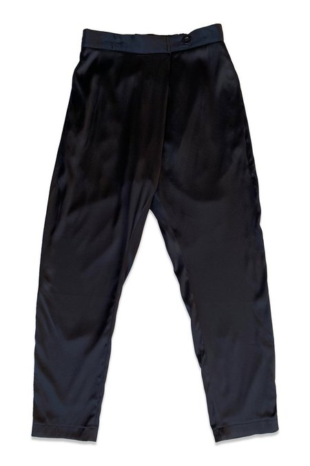 unisex SEEKER Silk Souk Pants - Black