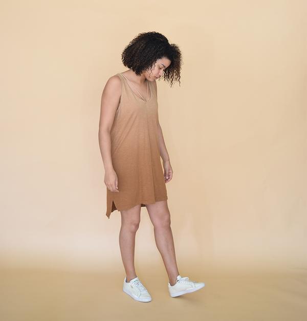 LNA Ombre Strappy Tank Dress