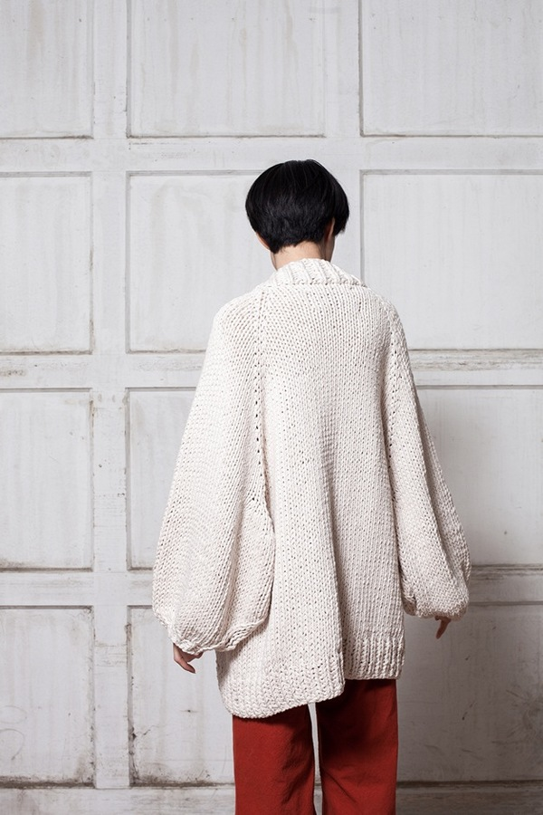 I Love Mr. Mittens Balloon Sleeve Cardigan - champagne