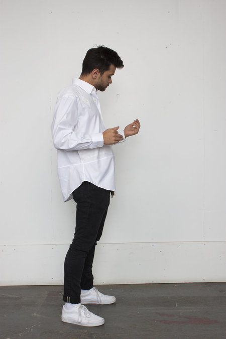 Unisex The Same But Different Long Sleeve The Sam Shirt - White