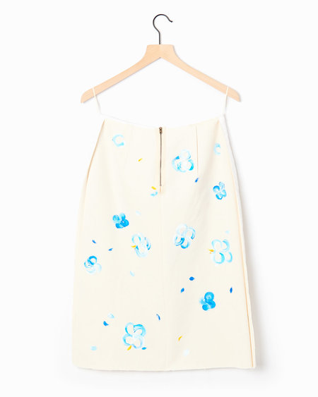 Marni Pencil Skirt - Ivory/Blue