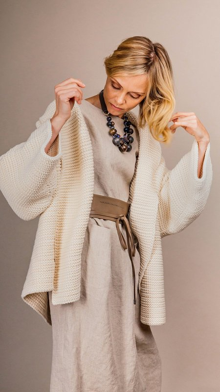 Lauren Manoogian Links Cardigan - White