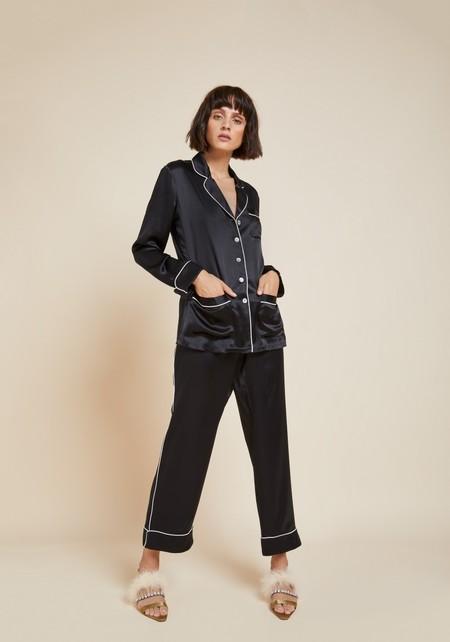 Olivia Von Halle Coco Silk Pyjamas - Jet Black
