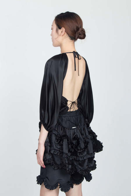 CECILIE BAHNSEN Puff Sleeved Blouse with Ruffles