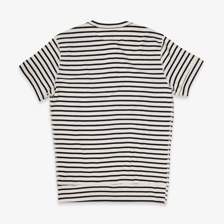 Hemen Biarritz Luzien Short Sleeve Henley - Breton Stripe