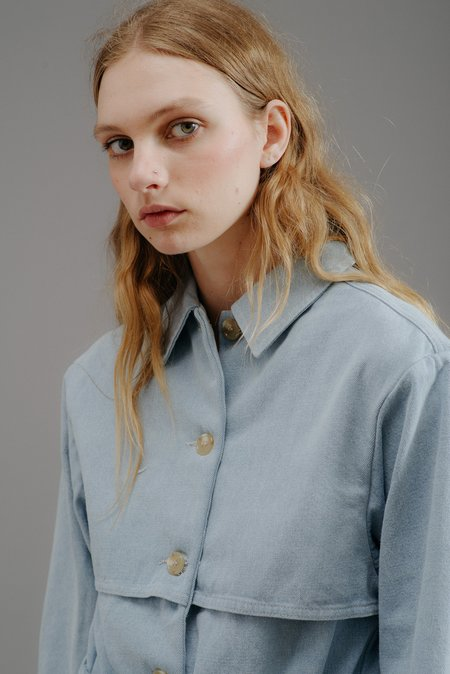 MICAELA GREG TRENCH JACKET - SKY BLUE