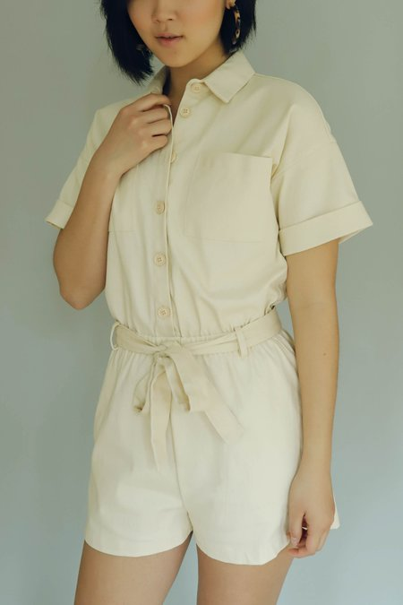 Line & Dot Roi Romper - Cream
