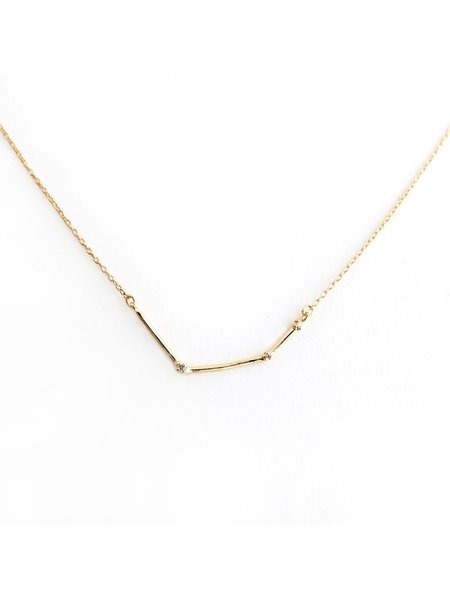 n+a new york Gold & Diamond Bar Necklace