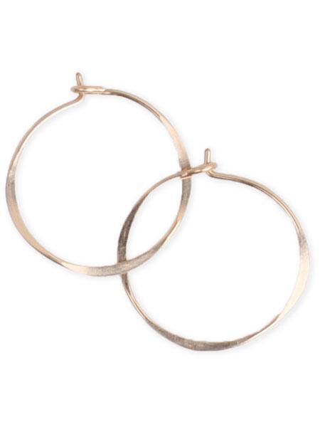 Fail Round Hoop Earrings - 14k gold fill