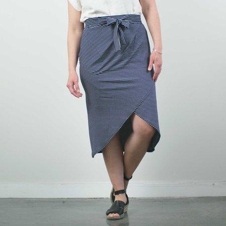 Sarah Liller Eloisa Skirt - Navy Stripe