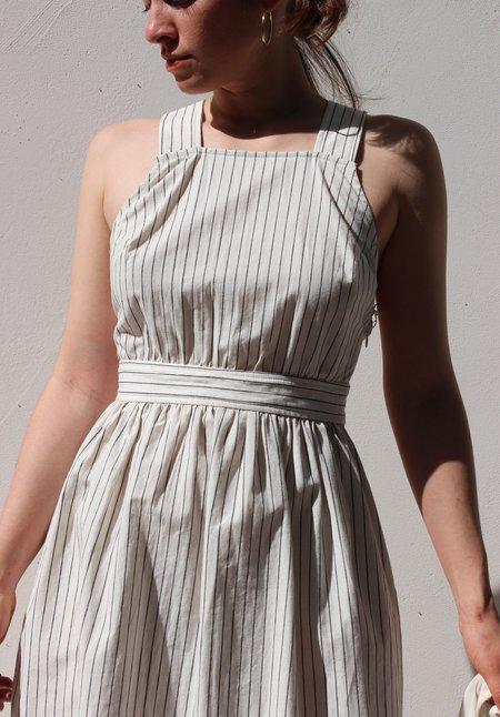 Kordal arianne dress - cream/black stripe