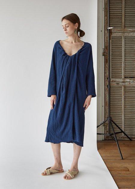 a Detacher Diodore Dress - Navy