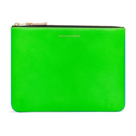Comme des Garçons Super Fluorescent Zip Pouch - Green/Blue