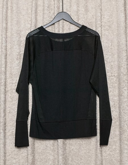 Berenik Mesh Summer Sweater - Black