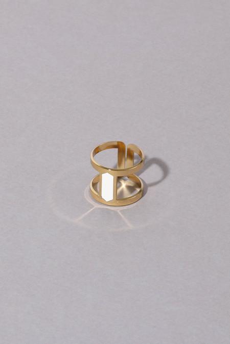 Anne Thomas Reda Adjustable Ring - White